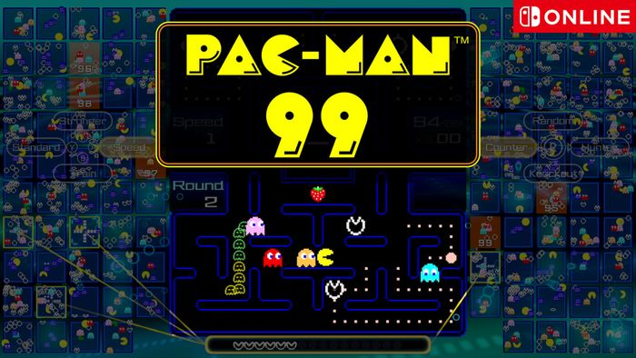 Pac-Man 99 nintendo gameplay splash