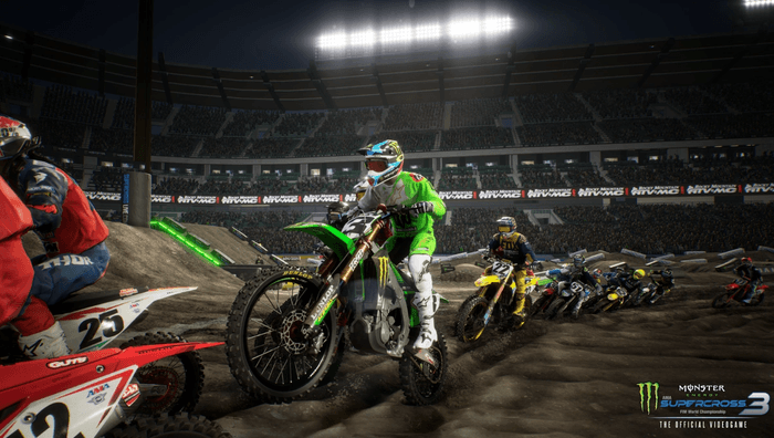 Close racing is the name of the game in Supercross