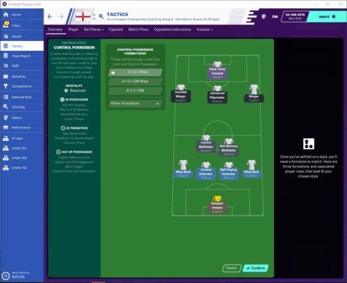 England FM20 Tactics