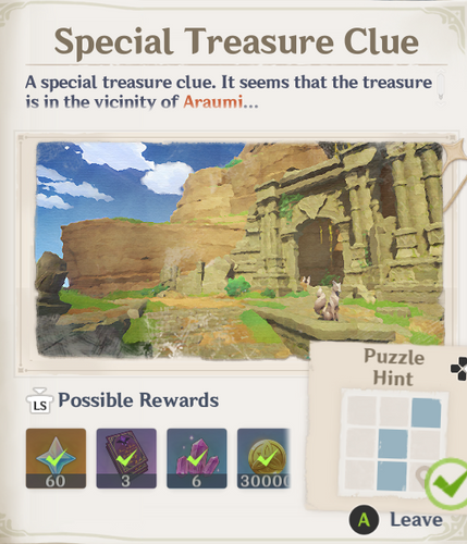 Genshin Impact Special Treasure 1 hint