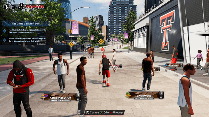 NBA 2K22 The City players waiting for games