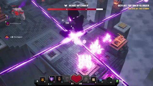 Minecraft Dungeons Heart of Ender Obsidian Pinnacle Arch Illager