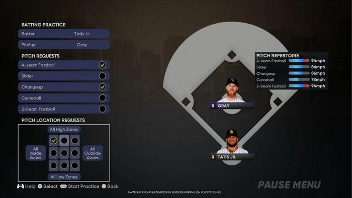 MLB The Show 21 custom practice game mode