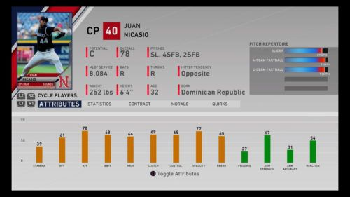 Juan Nicasio MLB The Show 20 best minor league players RTTS Franchise Mode