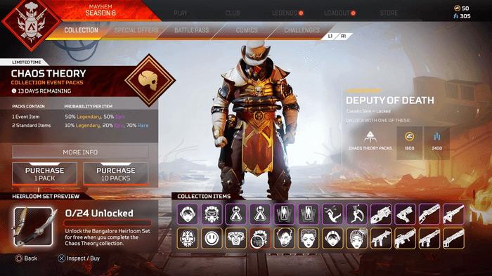 Apex Legends Chaos Theory  Skin Deputy of Death