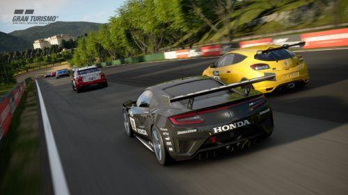 Wheel-to-wheel racing in Gran Turismo Sport