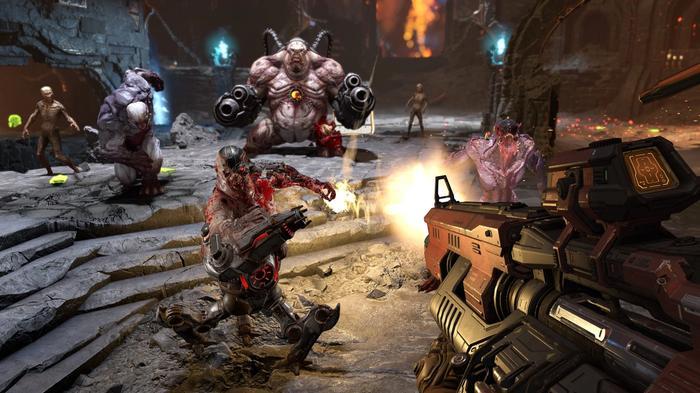 DOOM Eternal Switch cutscenes battle scene