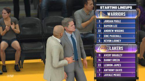 Warriors Lakers Lineup