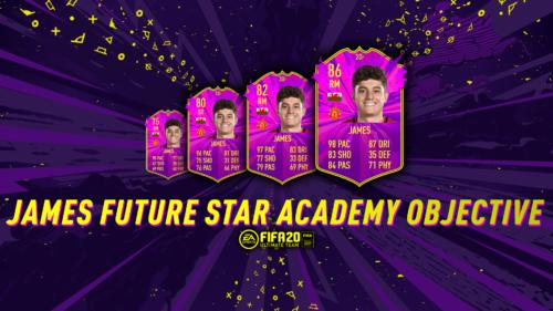 Dan James' Future Star Academy cards in FIFA 20