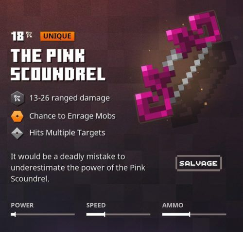 The Pink Scoundrel Minecraft Dungeons