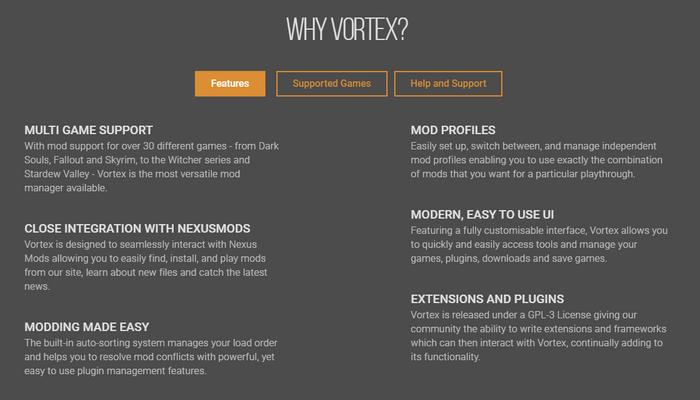 Nexus Mods Vortex Client