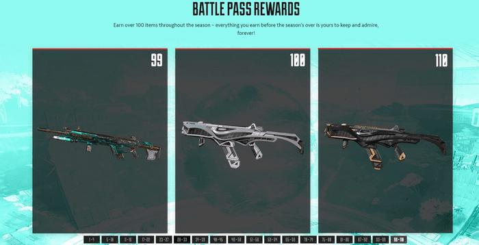 Apex Legends Season 7 Battle Pass Rewards level 99 100 110