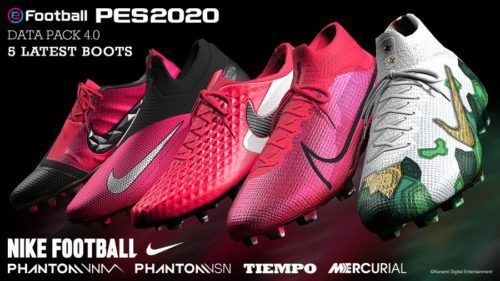 pes2020 data pack 4 0 boots nike