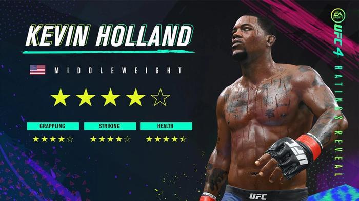 UFC 4 Kevin Holland Rating Reveal Image