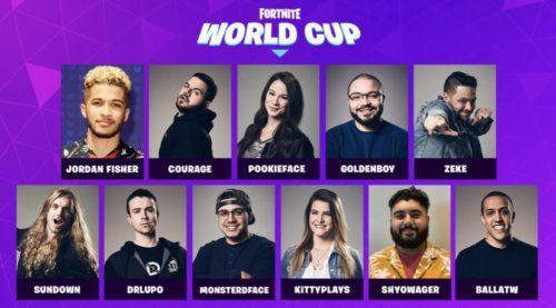 Fortnite World Cup talent