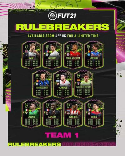 FUT21 Rulebreakers 4x5 min