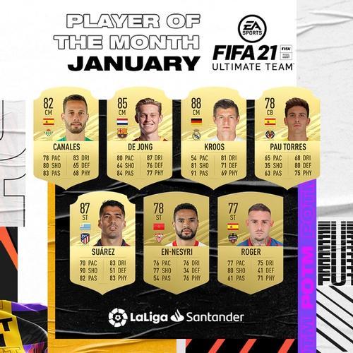 FIFA 21 La Liga POTM Nominees