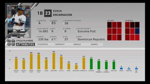 Edwin Encarnacion MLB The Show 20 best first basemen 1b rtts franchise mode march to october diamond dynasty