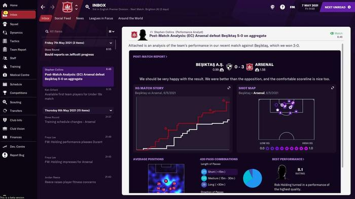 xG in Football Manager 2021