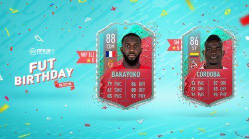 fifa 20 fut birthday team 2 objectives bakayoko cordoba