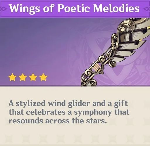 A new wind glider in Genshin Impact in commemoration of the game's first anniversary