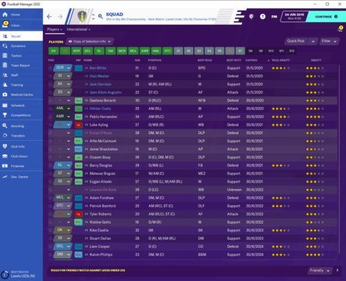 Leeds United FM20 Contracts