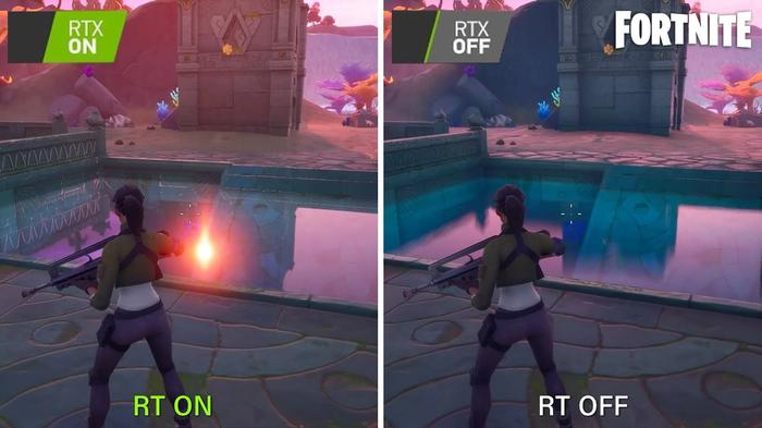 Fortnite Ray Tracing Example
