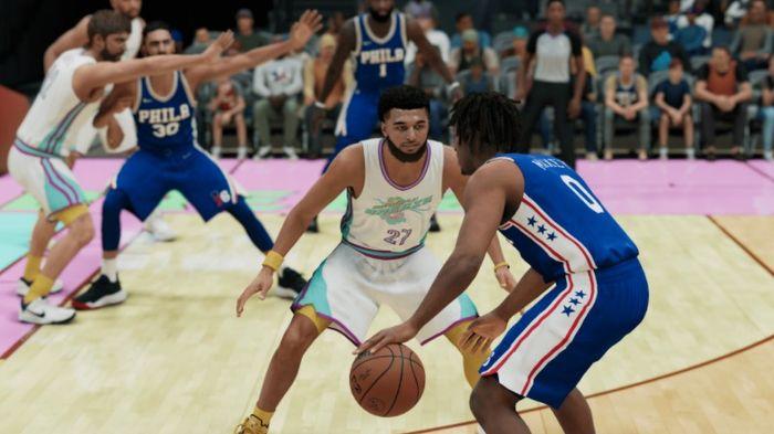 NBA 2K22 Jamal Murray guards tyrese maxey