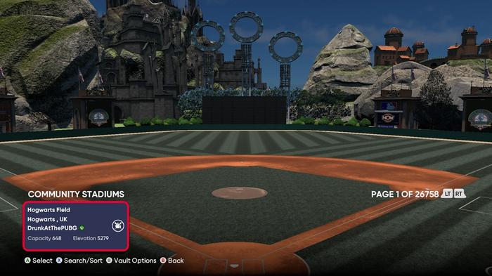 MLB The Show 21 Harry Potter Stadium Creator hogwarts Quidditch