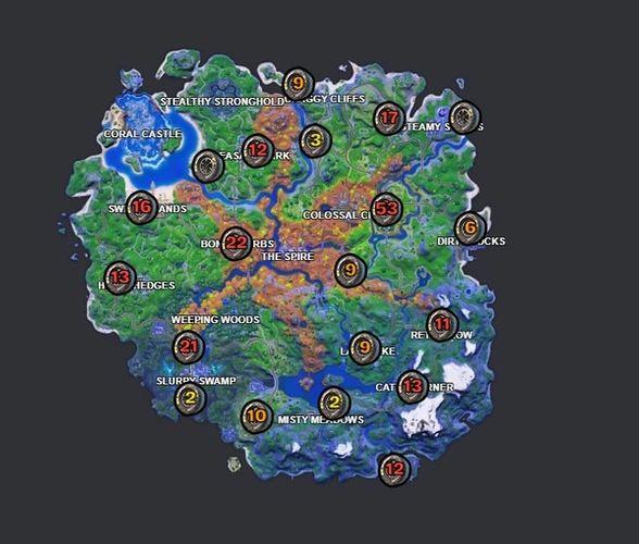 Fortnite Season 6 Week 10 Tire Locations