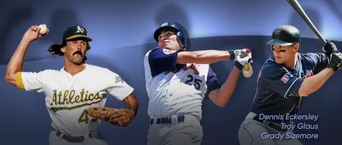 MLB The Show 21 3rd Inning Program Bosses Grady Sizemore Dennis Eckersley Troy Glaus