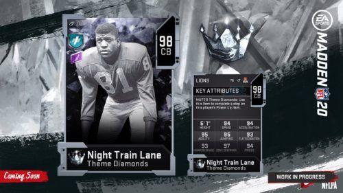 Night Train Lane Theme Diamond 2 stats