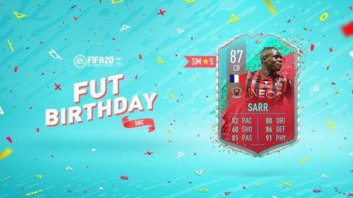 fifa 20 fut birthday team 2 sarr sbc