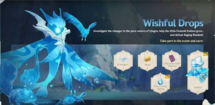 Genshin Impact Wishful Drops event overview