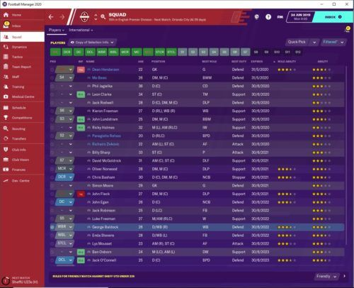 Sheffield United FM20 Contracts
