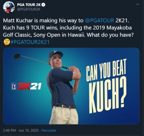 Matt Kuchar PGA Tour 2K21