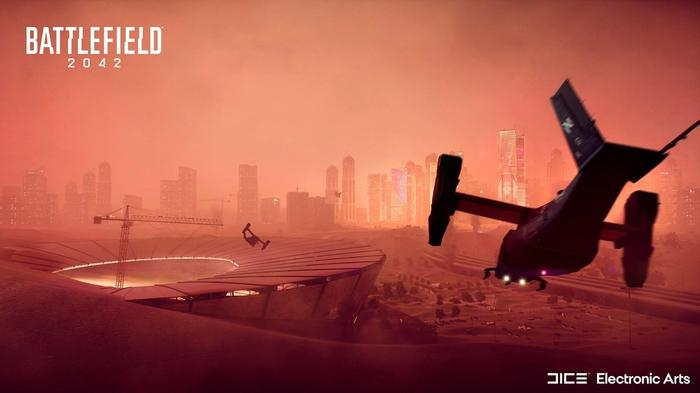 Battlefield 2042 map Hourglass planes city buildings