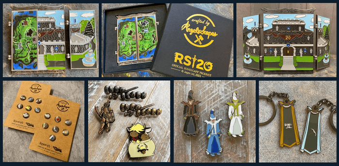 RuneScape Year of Celebration Key Art 4 merch