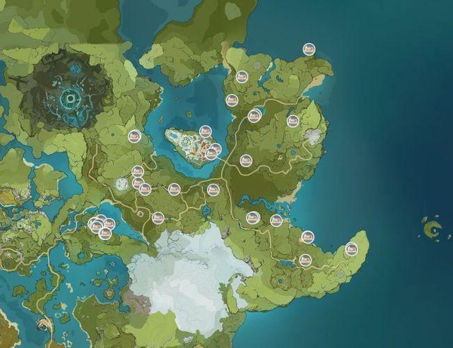 Genshin Impact Dandelion Seed Map Locations