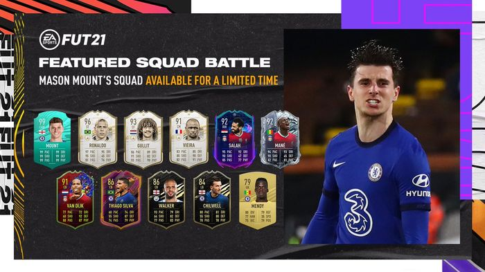 99! Mount's pro player card leads the way for his Ultimate Team!