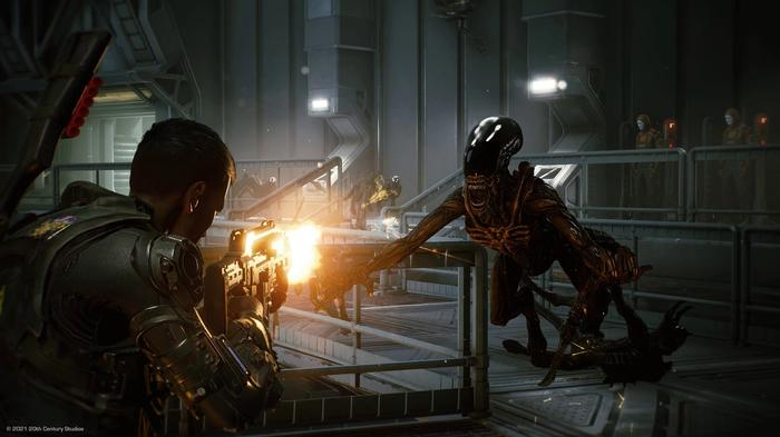 New Aliens Game Fireteam Jumping Xenomorph Shooting Colonial Marines