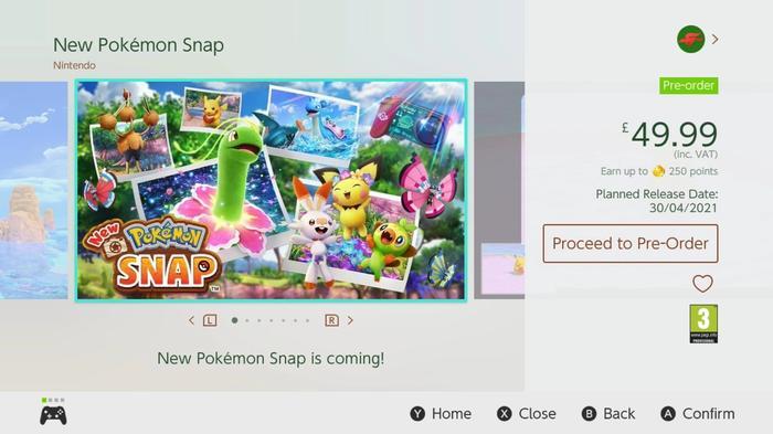New Pokemon Snap Nintendo Switch Eshop Price