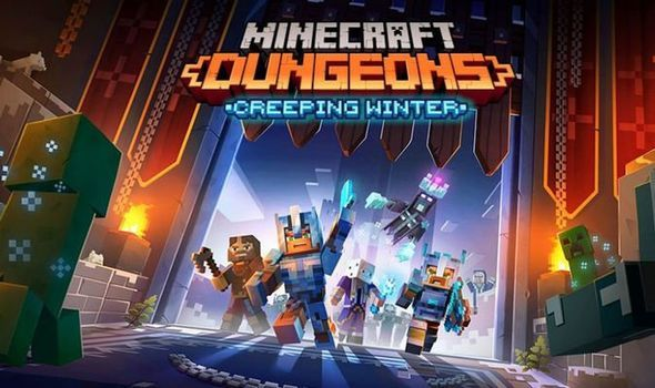 Minecraft Dungeons Creeping Winter update launch date, time and early DLC  patch notes | Gaming | Entertainment | Express.co.uk
