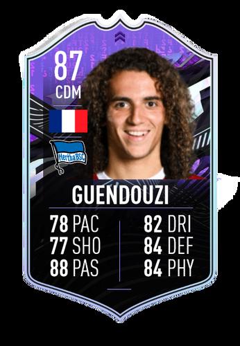 Matteo Guendouzi FIFA 21 What If Card Image
