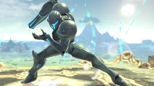 Samus' dark suit from Super Smash Bros Ultimate