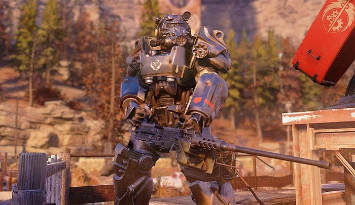 Fallout 76 brotherhood of steel dawn pc power armor armour gatling gun
