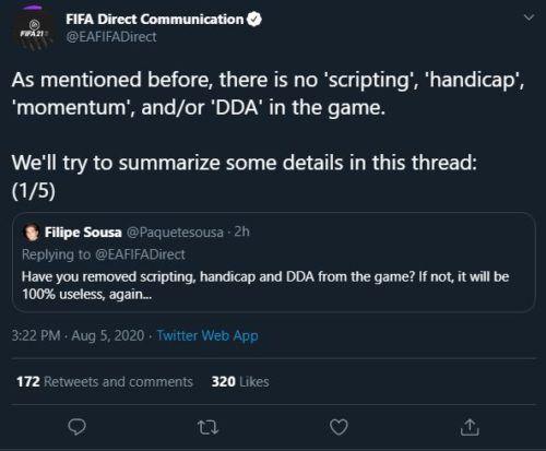 FIFA 21 tweet 1