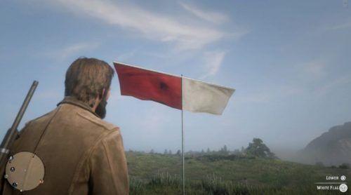 white flag red dead