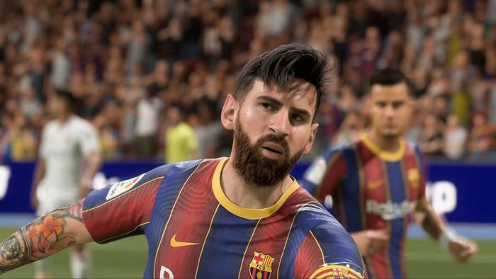 fifa 21 messi in game