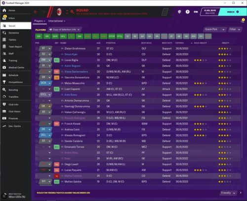 Football Manager 2020 Ac Milan Team Guide Tactics Formations Transfer Targets More